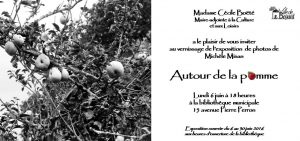 Invitation vernissage pomme